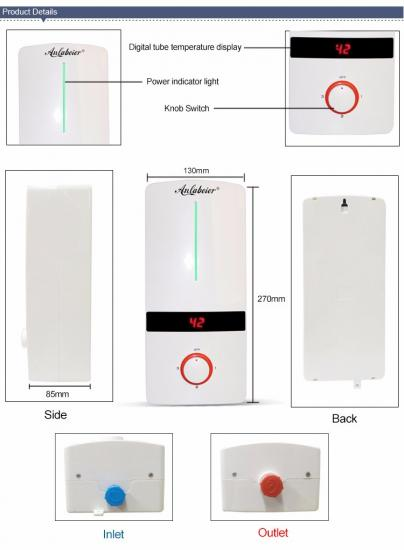 electric water heater tankless